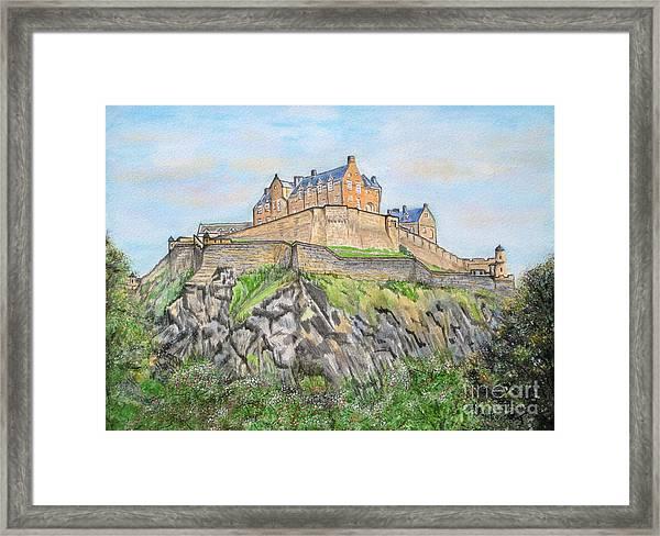 Edinburgh Castle Framed Print by Yvonne Johnstone