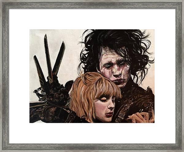 Edward And Kim Framed Print