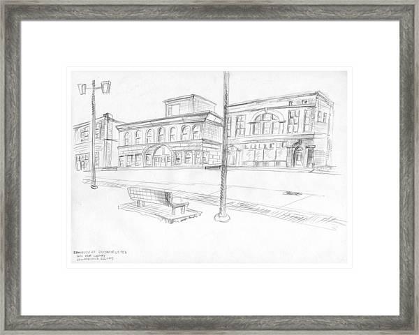 Edwardsville Reconstructed Framed Print