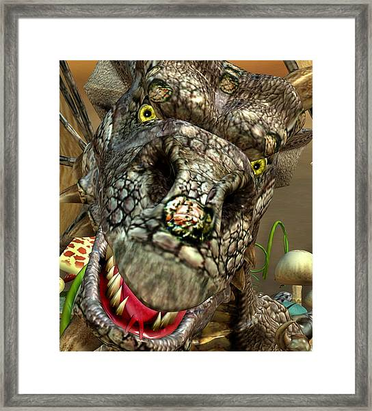 'edwin' Dragon - Shows His Cute Side ....... Framed Print