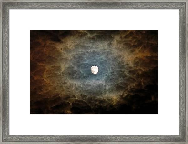 Eerie Moon Framed Print