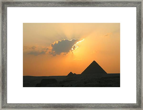 Egpytian Sunset Behind Cloud Framed Print