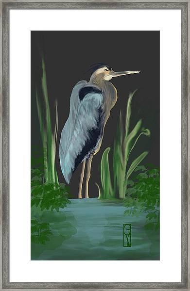 Egret I Framed Print