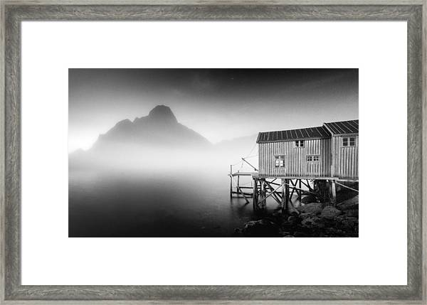 Egulfed By Mist Framed Print
