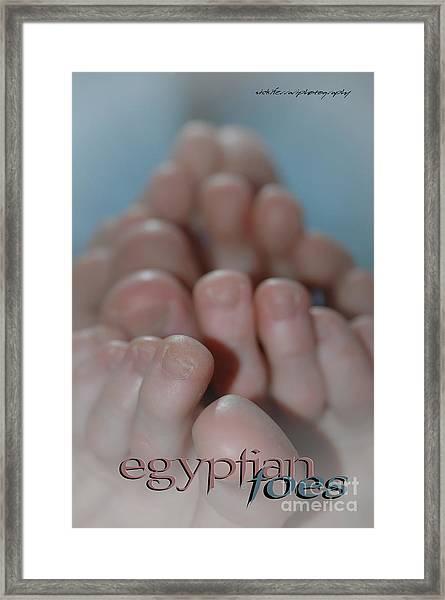 Egyptian Toes Framed Print