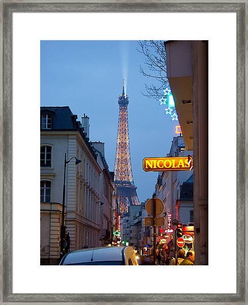 Eiffel At Dusk Framed Print