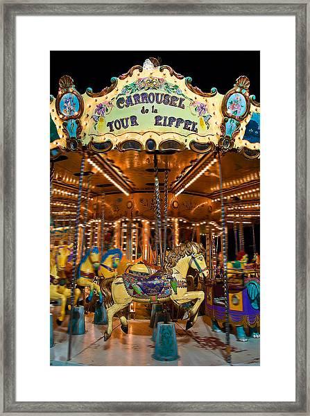 Eiffel Carrousel Framed Print