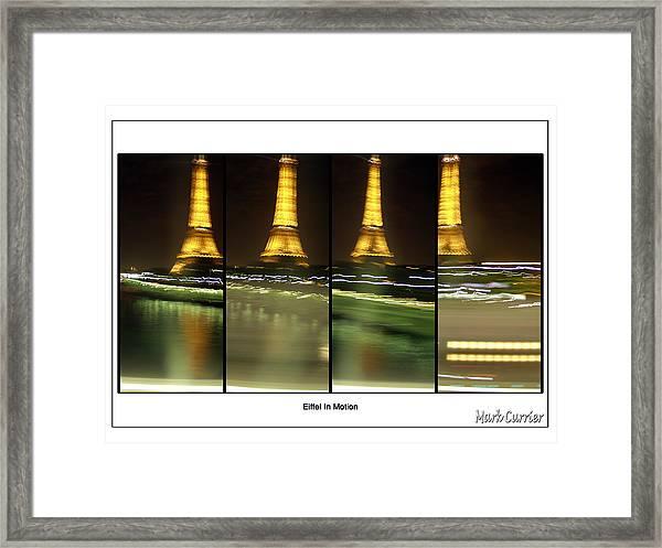 Eiffel In Motion Series Framed Print