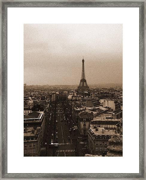 Eiffel In The Neighborhood Framed Print
