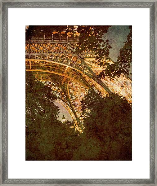 Framed Print featuring the photograph Paris, France - Eiffel Oldplate II by Mark Forte