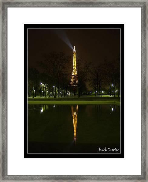 Eiffel Reflection Framed Print