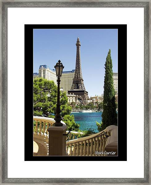 Eiffel Tower In Vegas Framed Print