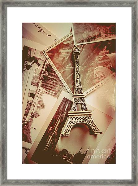 Eiffel Tower Old Romantic Stories In Ancient Paris Framed Print