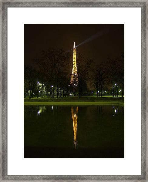 Eiffel Twin Reflection Framed Print