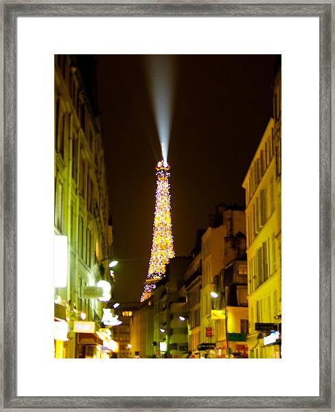 Eiffel Twinkle Framed Print