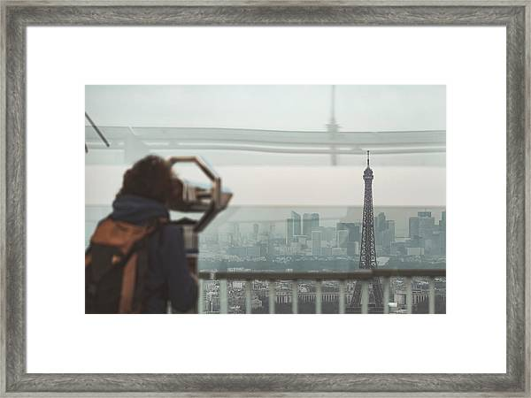 Framed Print featuring the photograph Eiffel View by Nikos Stavrakas