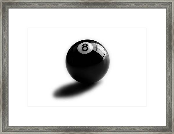Eight Ball Framed Print