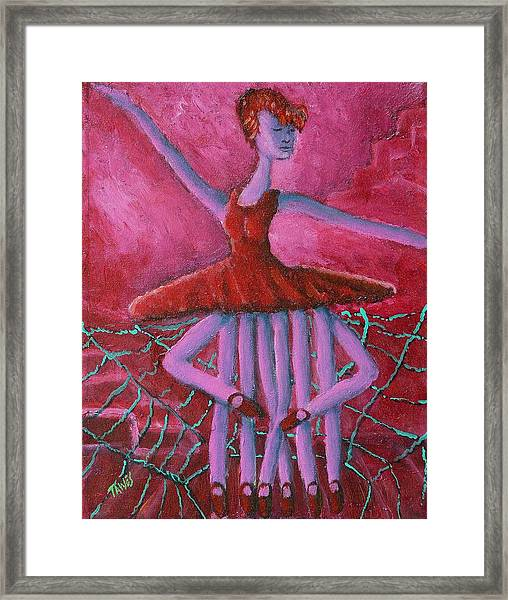 Eight Legged Ballerina Framed Print