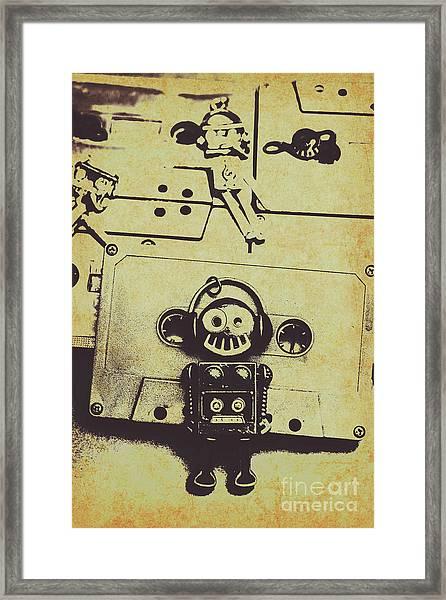 Eighties Rewind  Framed Print