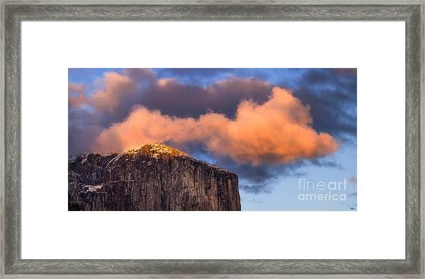 El Cap Glow Framed Print
