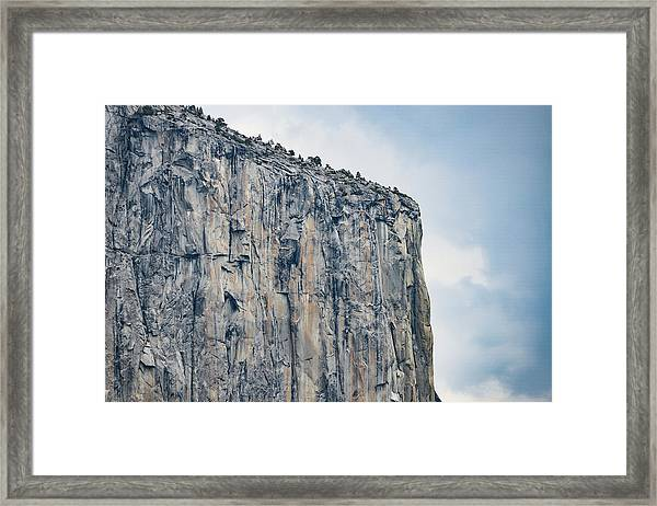 El Capitan Up Close And Personal From Tunnel View Yosemite Np Framed Print