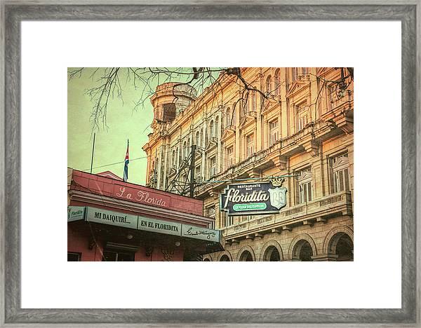 El Floridita Havana Cuba Framed Print