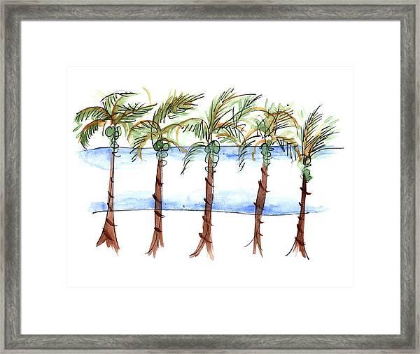 El Malecon Puerto Vallarta Framed Print