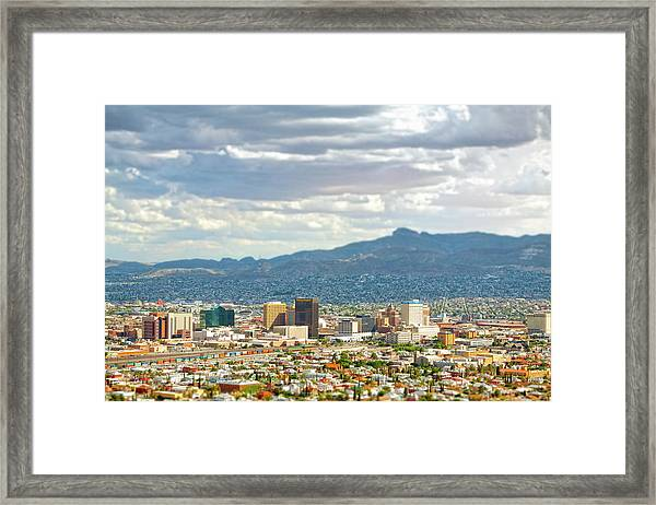El Paso Texas Downtown View Framed Print