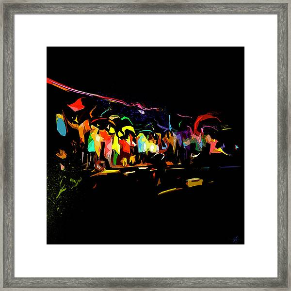 Framed Print featuring the digital art Elation by Gina Harrison