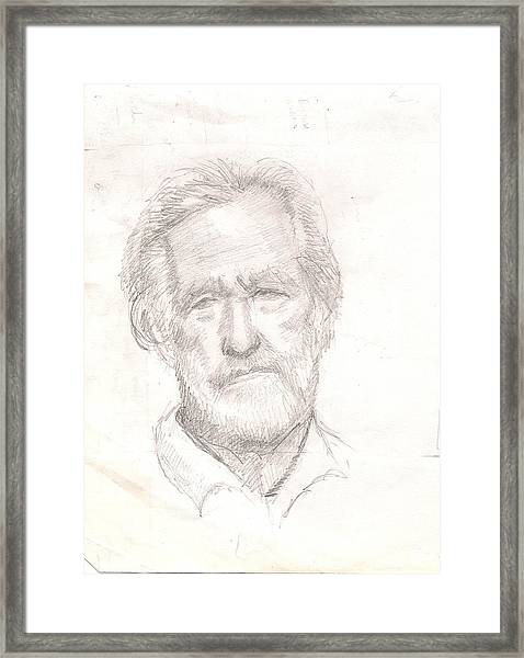 Elderly Man Framed Print