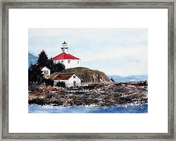 Eldred Rock Lighthouse Framed Print