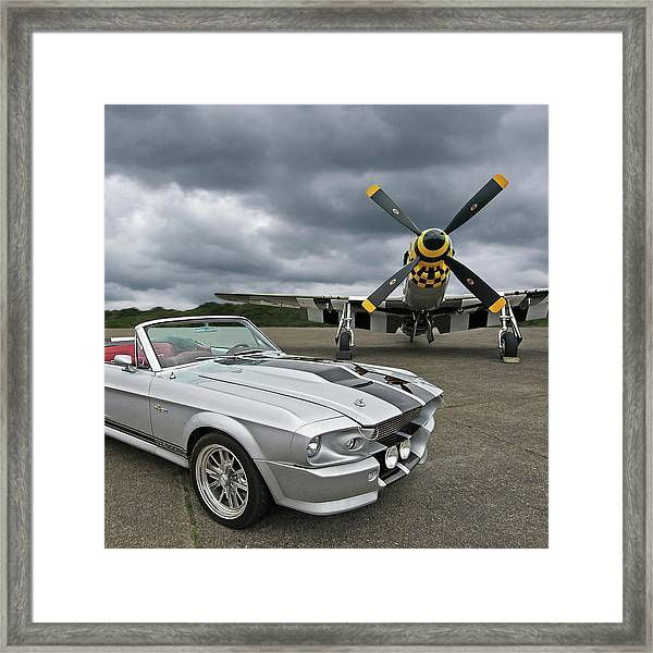 Eleanor Mustang With P51 Framed Print