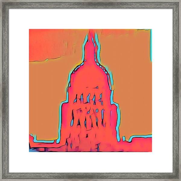 Electric Austin Framed Print