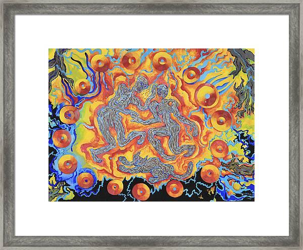 Electric Beings Framed Print