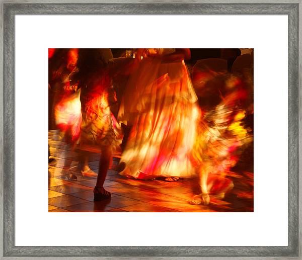 Electric Dance Framed Print