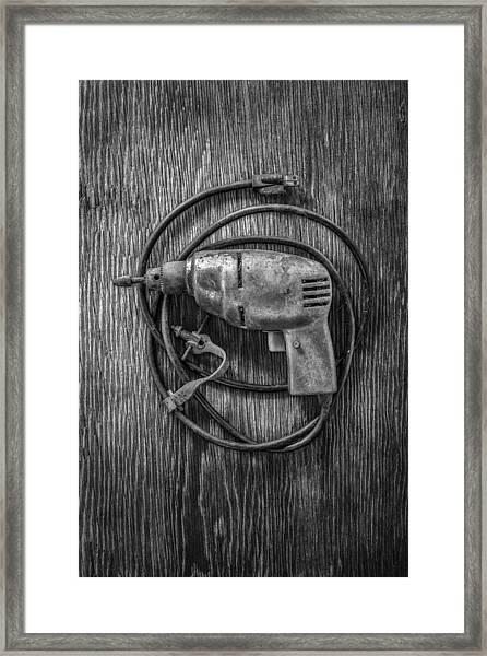 Electric Drill Motor Framed Print