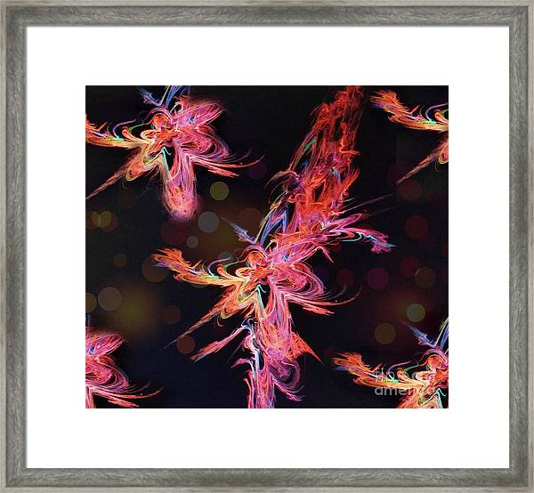 Electric Flowers Framed Print