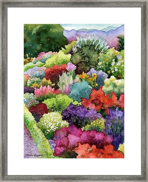 Electric Garden Framed Print