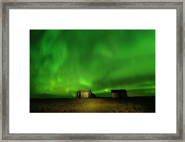 Electric Green Skies Framed Print