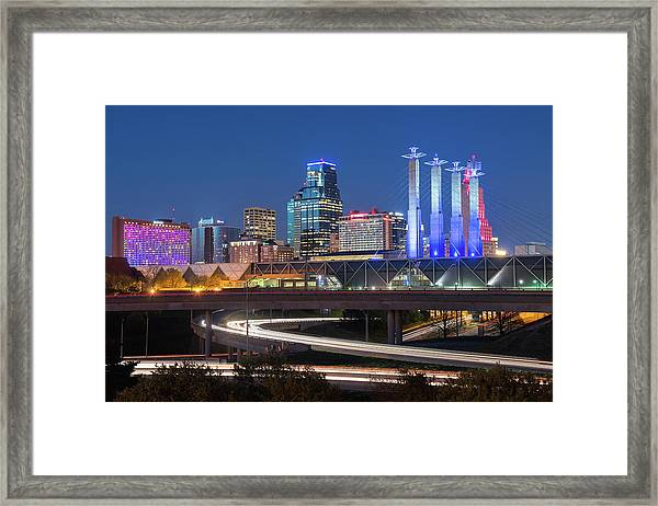 Electric Kc Framed Print