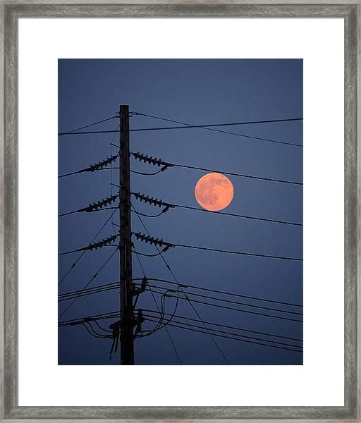 Electric Moon Framed Print