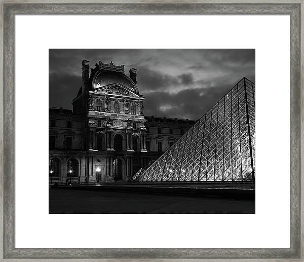 Electric Pyramid, Louvre, Paris, France Framed Print