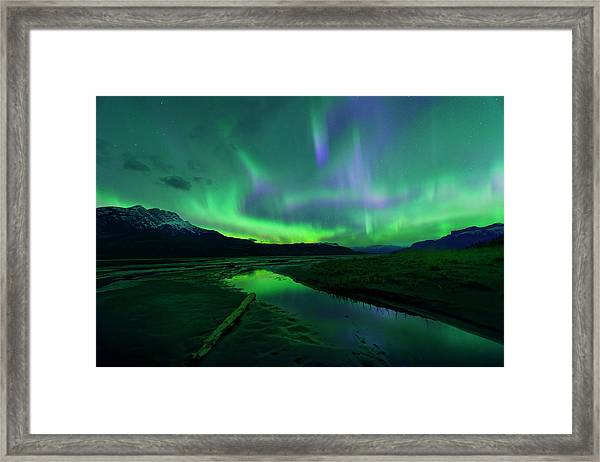 Electric Skies Over Jasper National Park Framed Print