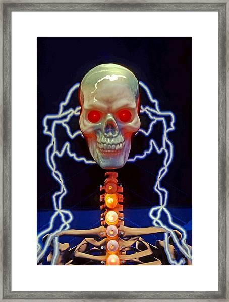 Electric Skull Framed Print