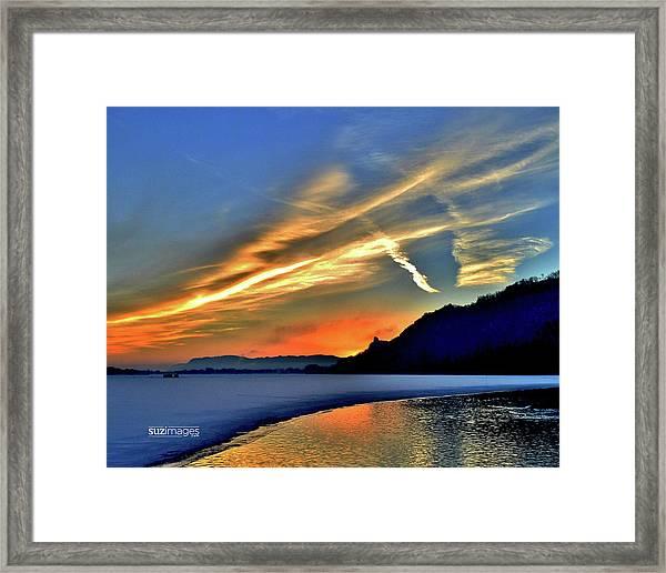 Electric Sunrise Framed Print