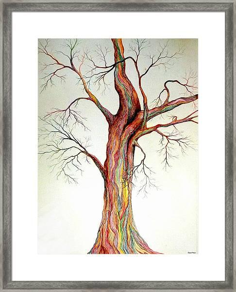 Electric Tree Framed Print