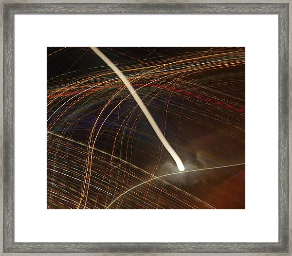 Framed Print featuring the pyrography Electric Universe by Michael Lucarelli