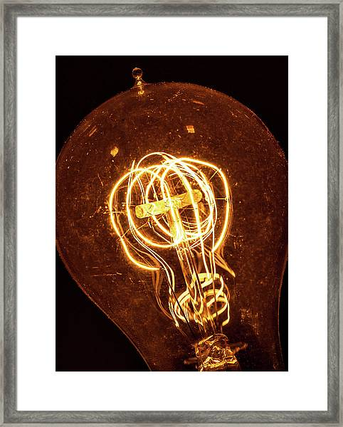 Electricity Through Tungsten Framed Print