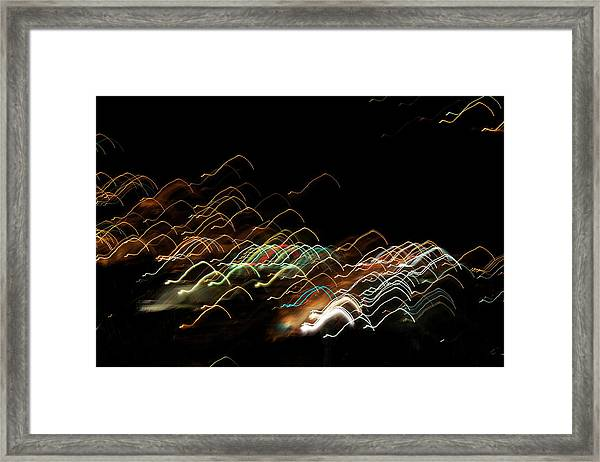 Framed Print featuring the pyrography Electronic Landscape by Michael Lucarelli