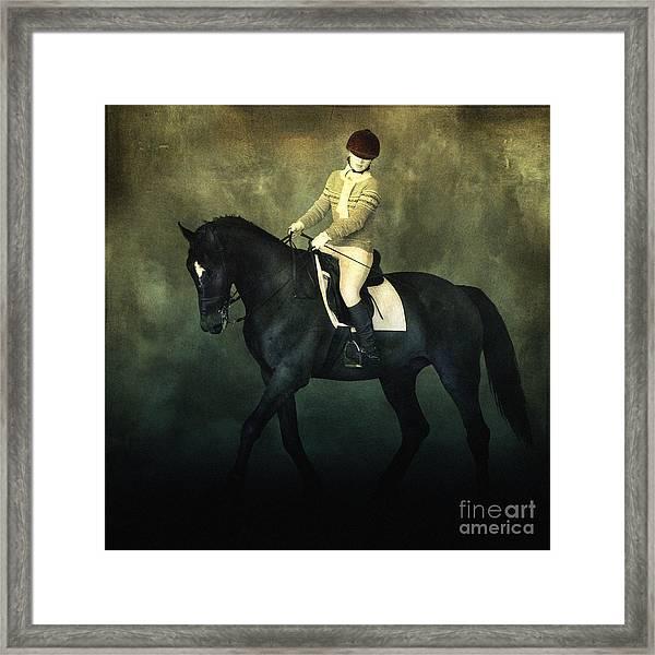 Elegant Horse Rider Framed Print